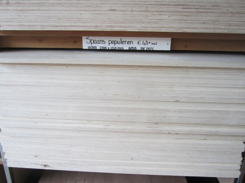 Platen hout multiplex for Exterieur 1 verlijming
